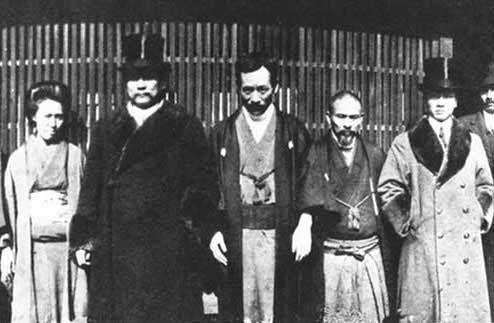 Saigo Shiro con Sun Yat Sen secondo da sinistra copie 1